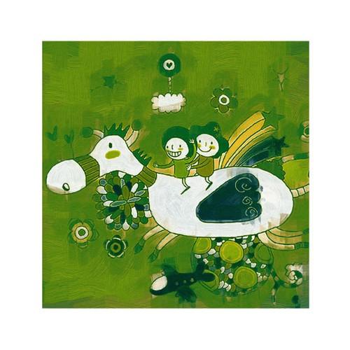 ARTİKEL Friendly Life 4 Parça Kanvas Tablo 70x70 cm KS-228