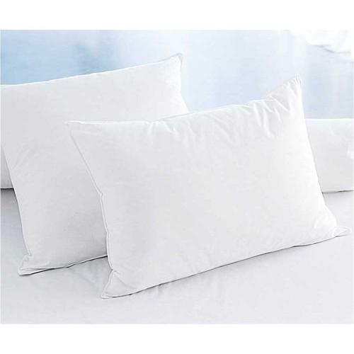 Eponj Home 2'li Silikon Yastık Kılıfı 50x70 Düz Boya Beyaz