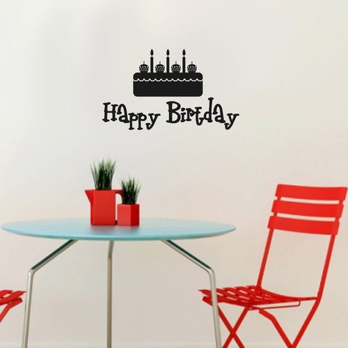 Özgül Grup Özgül Grup Duvar Sticker Happy Birtday | 65x39