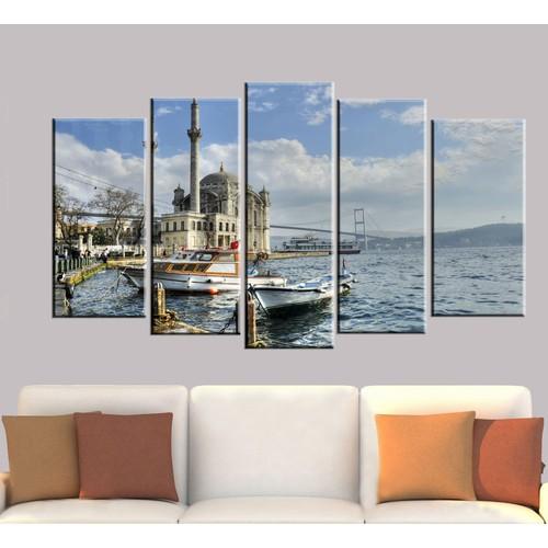 K Dekorasyon İstanbul 5 Parçalı Mdf Tablo KM5P1277