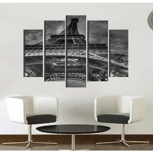 K Dekorasyon Eyfel Kulesi 5 Parçalı Mdf Tablo KM5P1008