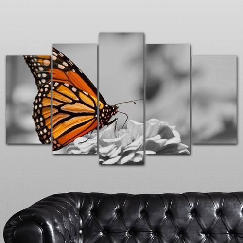 K Dekorasyon Kelebek 5 Parçalı Mdf Tablo KM-5P 2665