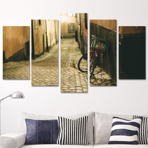 K Dekorasyon Bisiklet 5 Parçalı Mdf Tablo KM5P1619