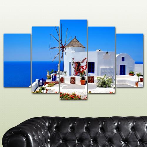 K Dekorasyon Değirmen Evi 5 Parçalı Mdf Tablo KM-5P 2357