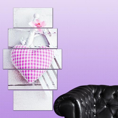 K Dekorasyon Love 5 Parçalı Mdf Tablo KM-5P 2435