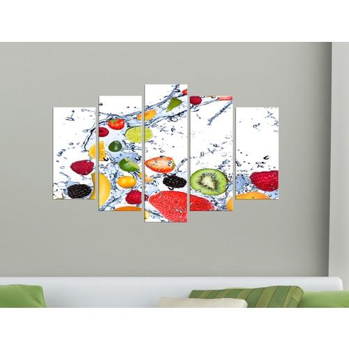 K Dekorasyon Meyveler 5 Parçalı Mdf Tablo KM-5P 2263