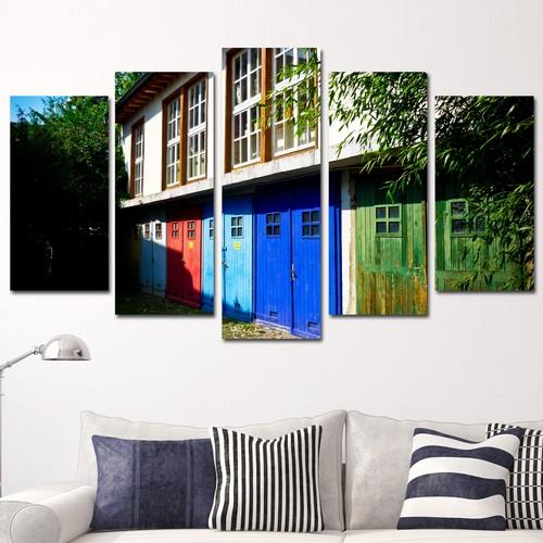K Dekorasyon Pencereler 5 Parçalı Mdf Tablo KM5P1518