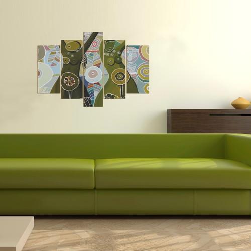 Dekorjinal 5 Parçalı Dekoratif Tablo D5TP68