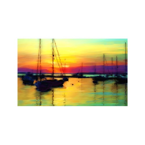 ARTİKEL Colorful Sun Shine 5 Parça Kanvas Tablo 135x85 cm KS-313
