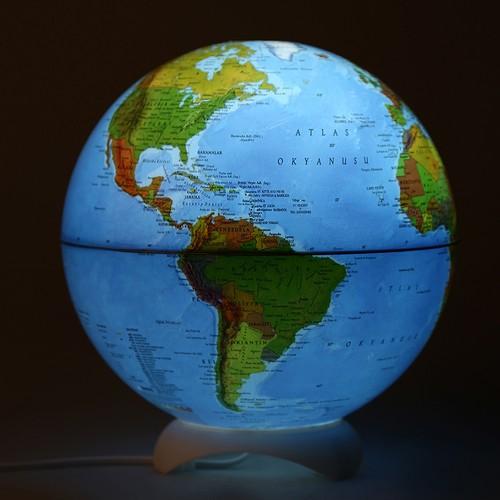 Tek-İş Abajur Masaüstü Küre Dünya