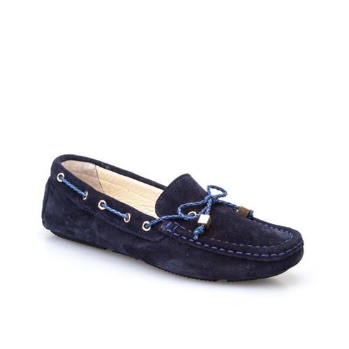 Cabani Fiyonklu Günlük Kadın Ayakkabı Lacivert Süet