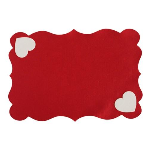 Modafabrik 2 li Kırmızı Kalp Desen Amerikan Servis