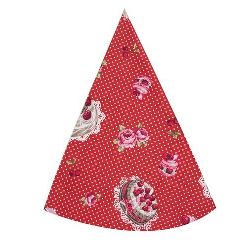Aliz Masa Örütüsü - Pastalı Kırmızı Puantiye - 145 cm