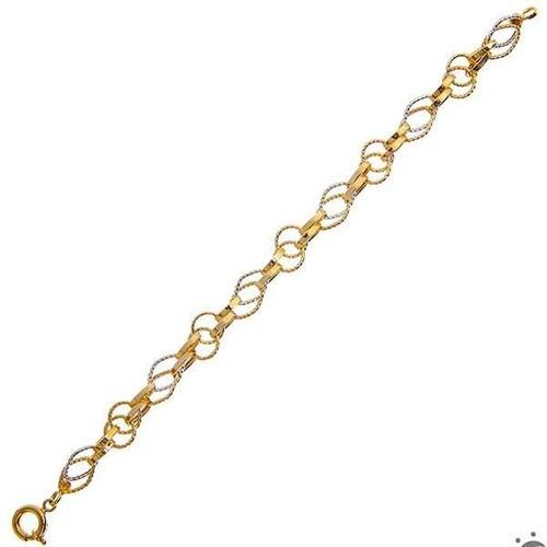 Bilezikhane Kalemli Hallow Bileklik 6,50 Gram 14 Ayar Altın