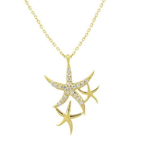 Bilezikhane Deniz Yıldız Kolye 2,02 Gram 14 Ayar Altın