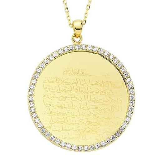 Bilezikhane Ayetel Kürsi Kolye 4,50 Gram 14 Ayar Altın