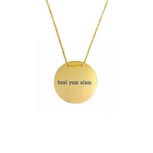 Bilezikhane Kolye Plaka 2,83 Gram 14 Ayar Altın