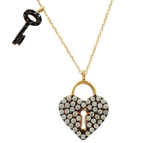 Bilezikhane Kolye Kalbimin Anahtarı 2,95 Gram 14 Ayar Altın