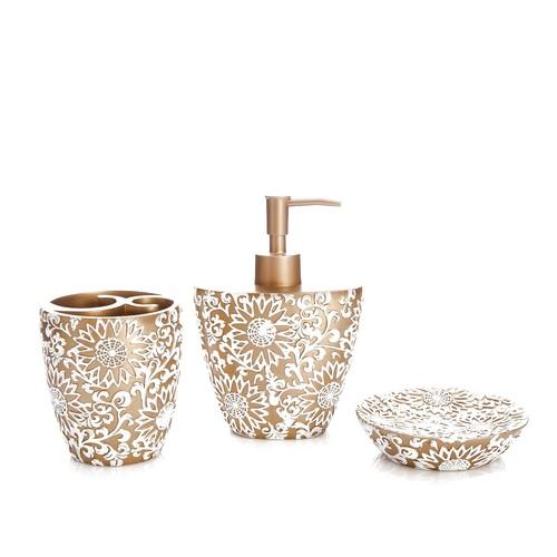 Bosphorus Altın Örgü Banyo Set