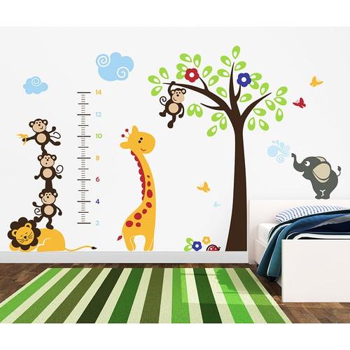 Besta Zürafa Duvar Sticker