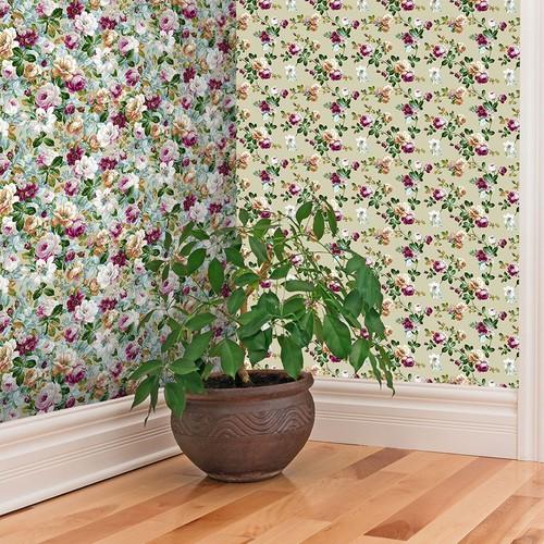 Mot Çiçekli Duvar Kağıdı 10-003802