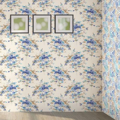 Mot Çiçekli Duvar Kağıdı 10-007001