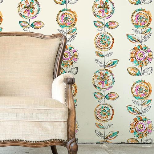 Mot Çiçekli Duvar Kağıdı 10-008102