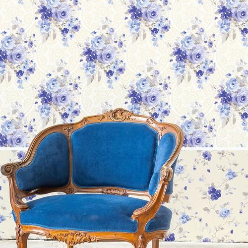 Mot Çiçekli Duvar Kağıdı 10-005603