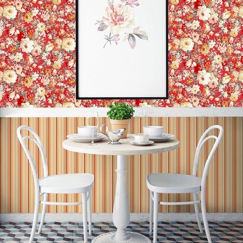 Mot Çiçekli Duvar Kağıdı 10-003903
