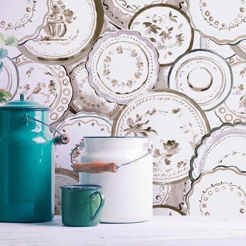 Mot Çiçekli Duvar Kağıdı 10-007902