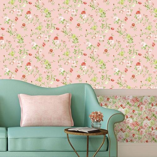 Mot Çiçekli Duvar Kağıdı 10-004202