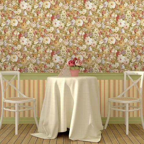 Mot Çiçekli Duvar Kağıdı 10-003902