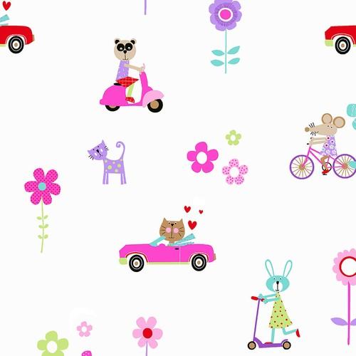 Mot Çocuk Odası Duvar Kağıdı 10-012401