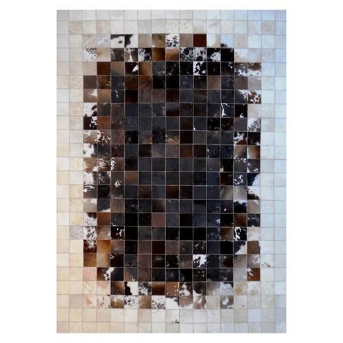 Tappeto E x clusive Deri Patchwork Kahve Halı - 120 x 180 cm
