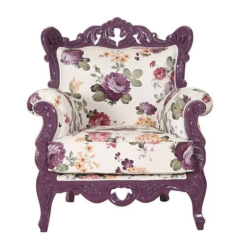 3A Mobilya Purple Flowers Berjer
