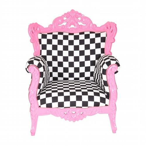 3A Mobilya Pink Damask Berjer