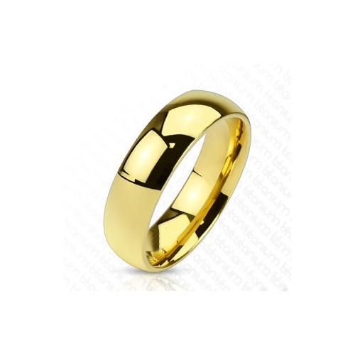 Chavin Bayan-Erkek Sarı Titanyum Alyans Yüzük ca47