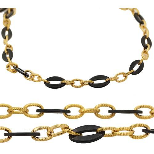 Chavin Altın Kaplama Çift Renk Çelik Zincir az37