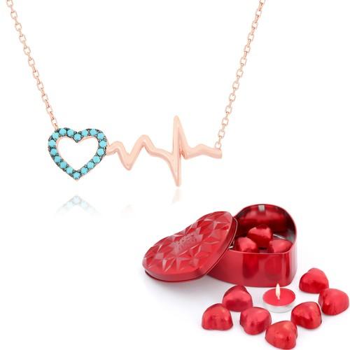 Chavin Kalp Ritmi Kalbim Senin İçin Atıyor Gümüş Kolye db61