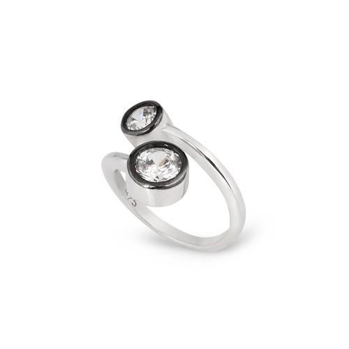 Chavin Elmas Tasarım Taşlı Gümüş Yüzük cp77