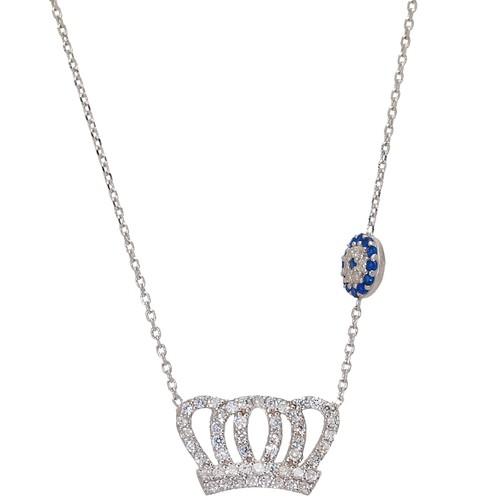 Chavin Kral Tacı Gümüş Bayan Kolye au83