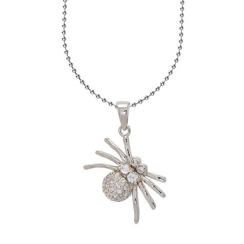 Chavin, Taşlı Örümcek Bayan Gümüş Kolye s42