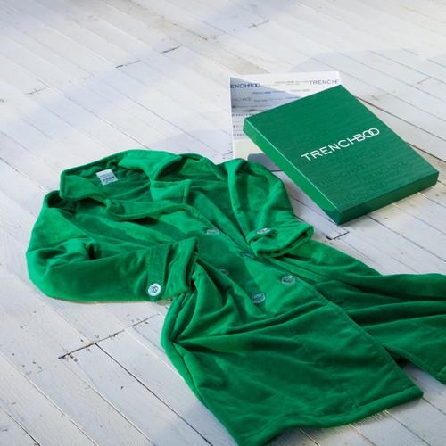 Trenchboo Yeşil Bay Kesim Bornoz - XL