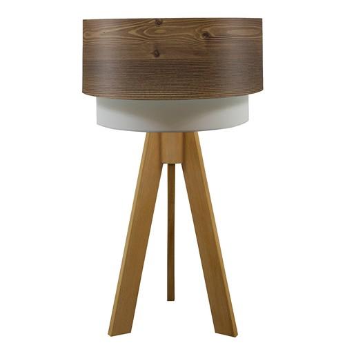 Crea Lighting Doubleshade Naturel Tripod Abajur Wood - Rustik