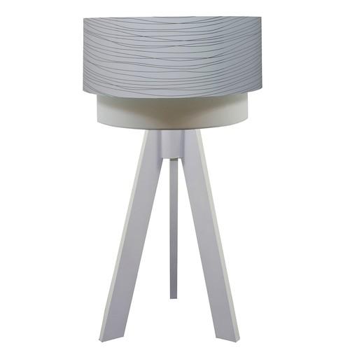 Crea Lighting Doubleshade Beyaz Tripod Abajur PVC - Beyaz Damla