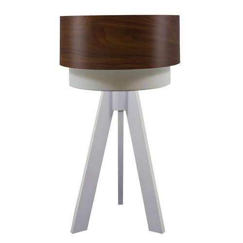 Crea Lighting Doubleshade Beyaz Tripod Abajur Wood - Betula