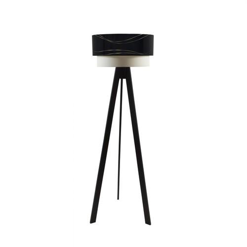 Crea Lighting Doubleshade Siyah Tripod Lambader PVC - Sihirli Dalga