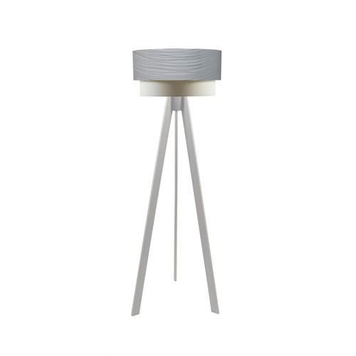 Crea Lighting Doubleshade Beyaz Tripod Lambader PVC - Beyaz Damla