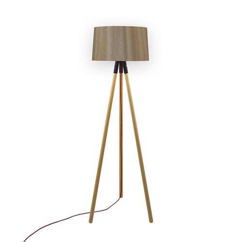 Crea Lighting Trio Saten Naturel Lambader - Vizon