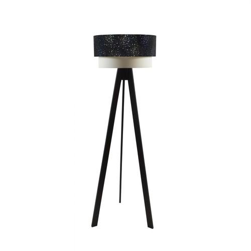 Crea Lighting Doubleshade Siyah Tripod Lambader - PVC Yıldız